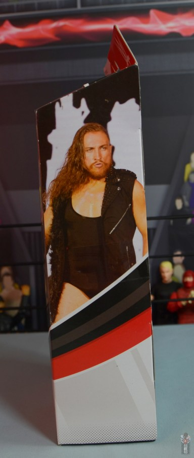 wwe elite 75 pete dunne figure review - package left side