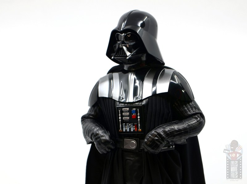 hot toys empire strikes back darth vader figure review -looking up
