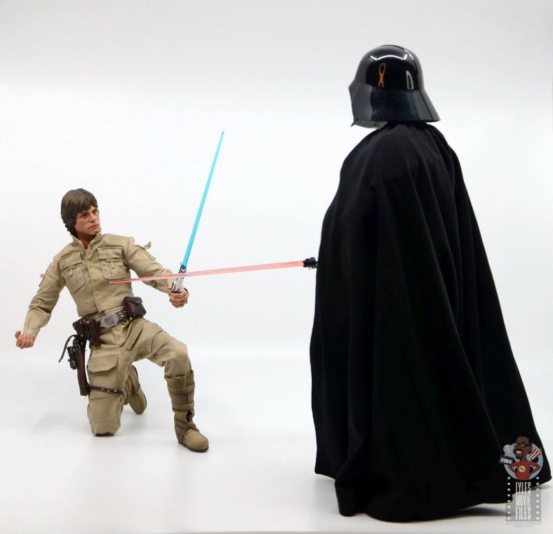 hot toys empire strikes back darth vader figure review - luke rises