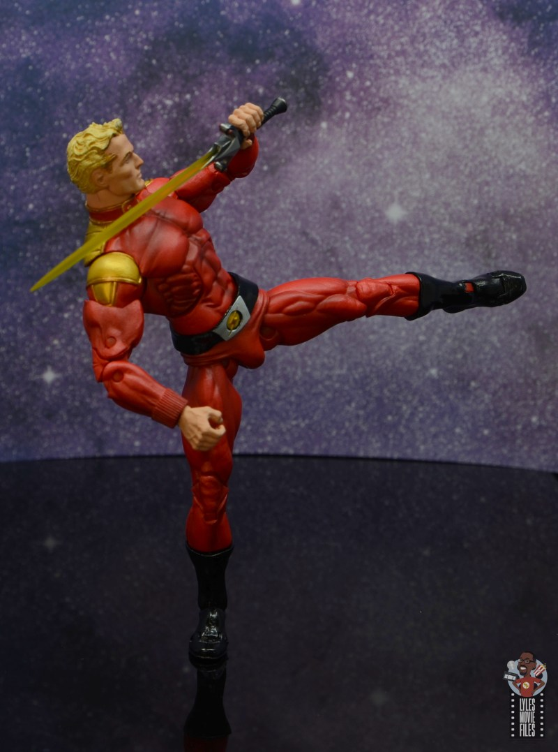 neca defenders of the earth flash gordon figure review - kicking