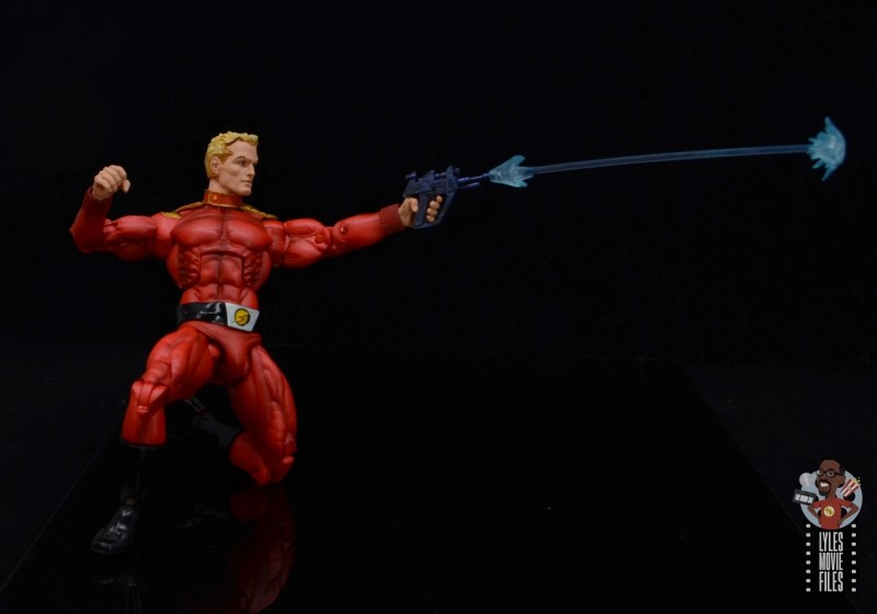 neca defenders of the earth flash gordon figure review - long blaster effect