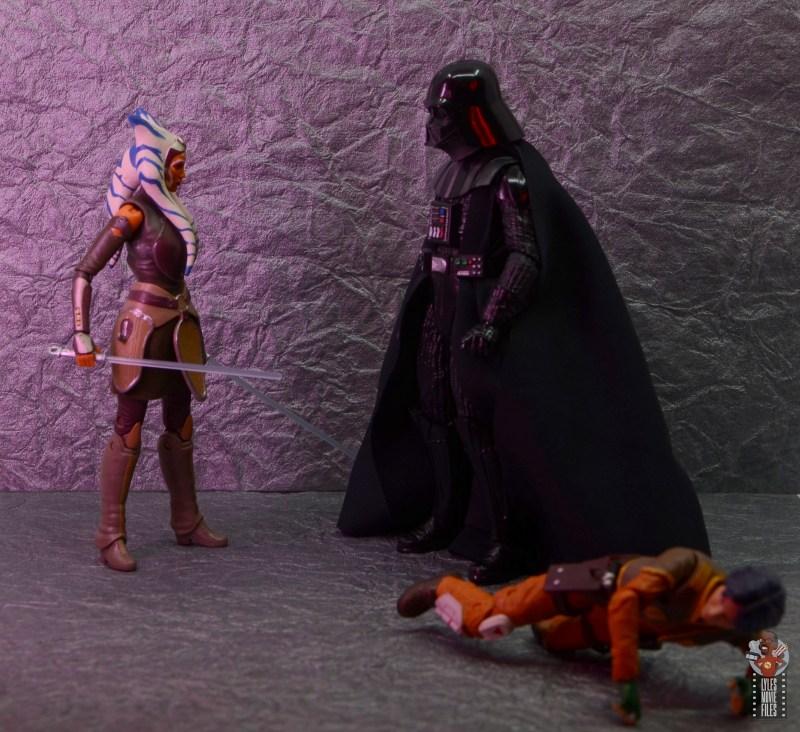 star wars the black series ahsoka tano figure review - saving ezra from darth vader