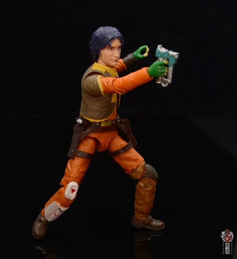star wars the black series ezra bridger figure review - aiming blaster