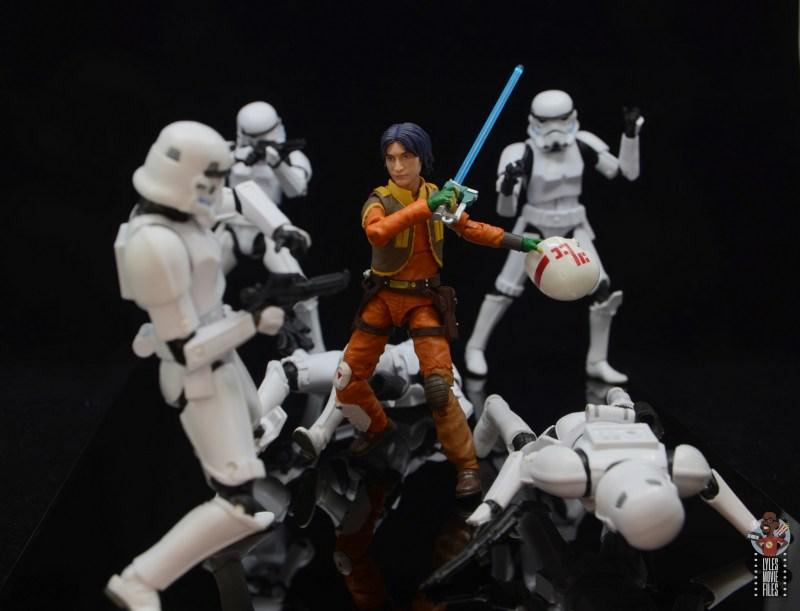 star wars the black series ezra bridger figure review - fighting stormtroopers