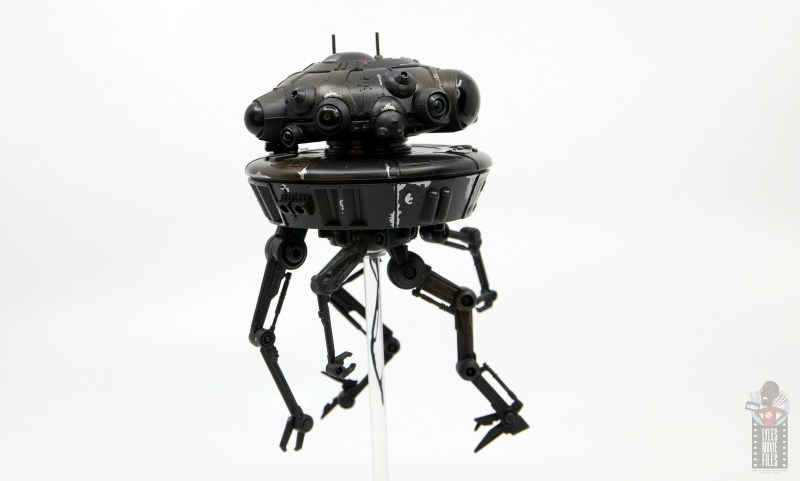 star wars the black series imperial probe droid figure review - legs bent