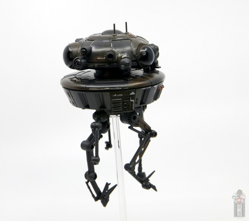 star wars the black series imperial probe droid figure review -paint detail