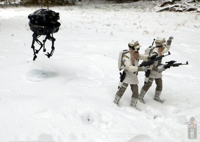 star wars the black series imperial probe droid figure review - stalking hoth troopers