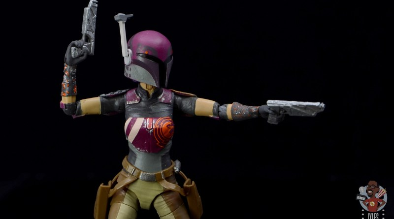 star wars the black series sabine wren figure review - aiming blaster