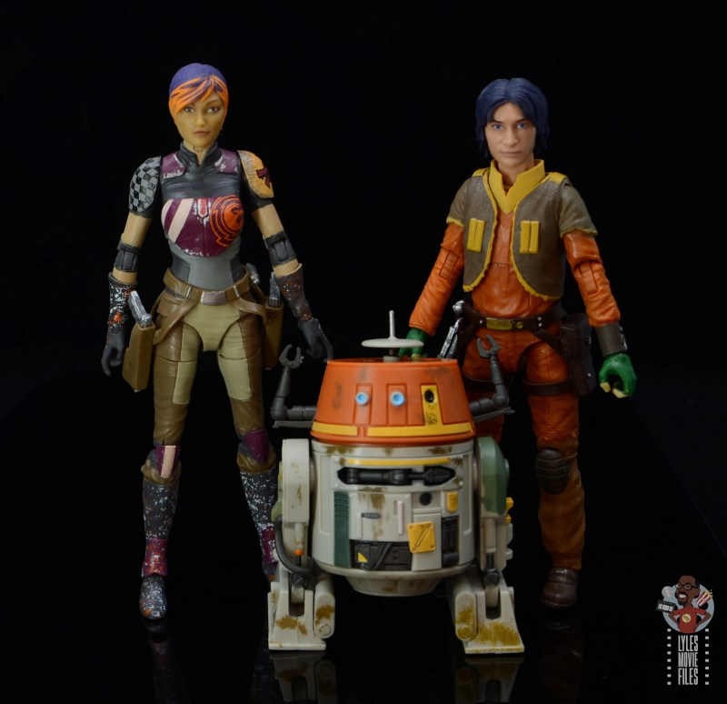 star wars the black series sabine wren figure review -scale with chopper and ezra