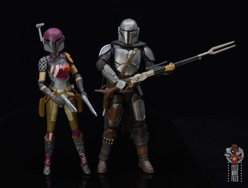 star wars the black series sabine wren figure review - with mando