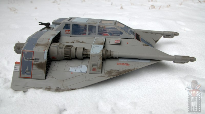 star wars the black series snowspeeder review - right side