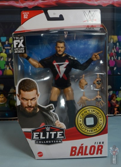 wwe elite 82 finn balor figure -package front