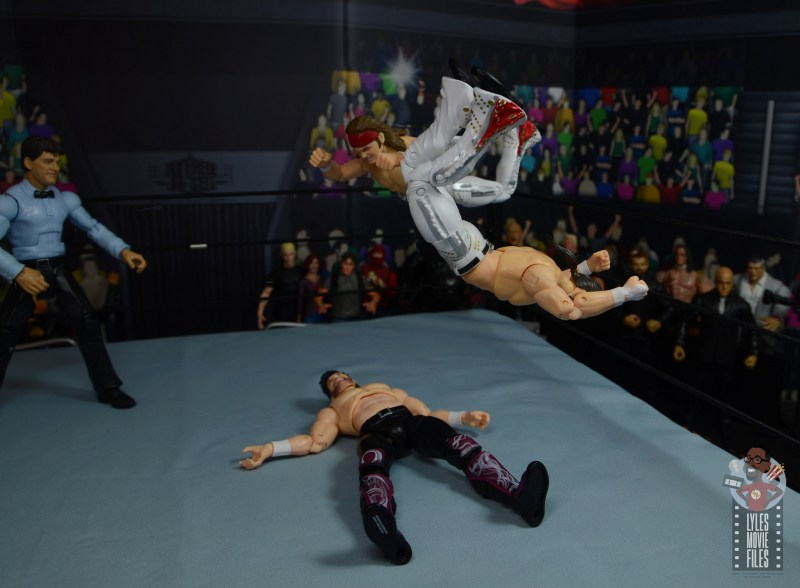 aew the young bucks figure review -moonsault 450 splash combo