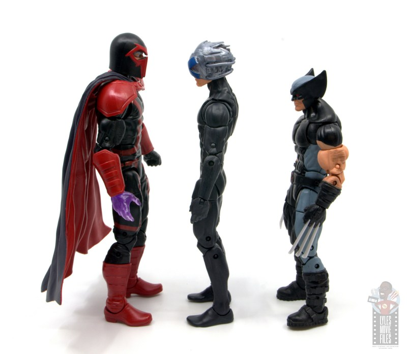 marvel legends house of x charles xavier figure review - facing magneto and x-force wolverine