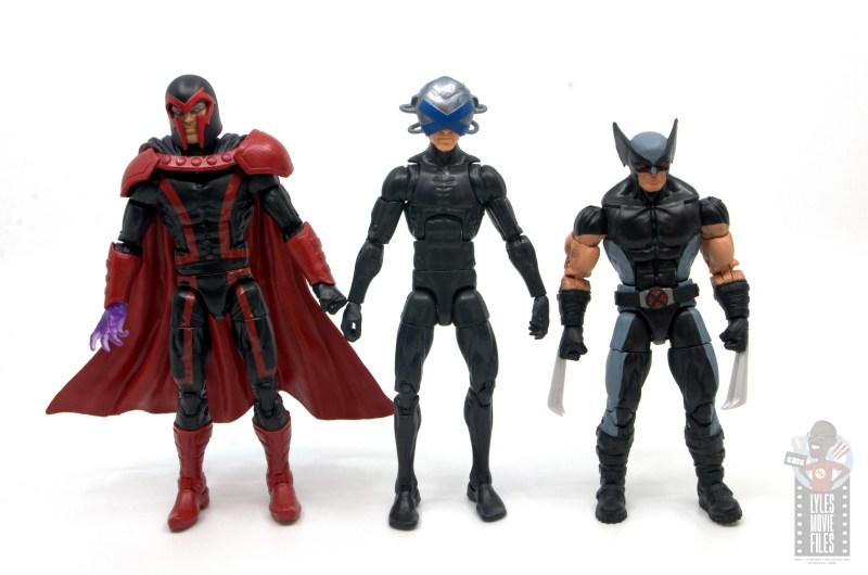 marvel legends house of x charles xavier figure review - scale with magneto and x-force wolverine
