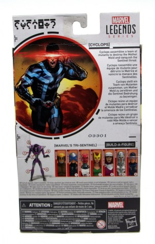 marvel legends house of x cyclops figure review - package rear