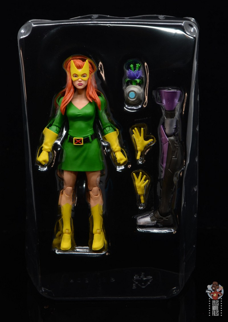 marvel legends house of x marvel girl figure review - accessories in tray