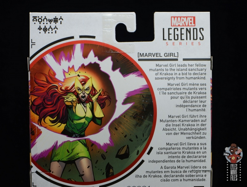 marvel legends house of x marvel girl figure review - package bio