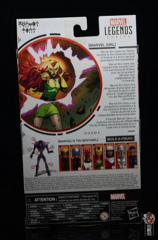 marvel legends house of x marvel girl figure review - package rear