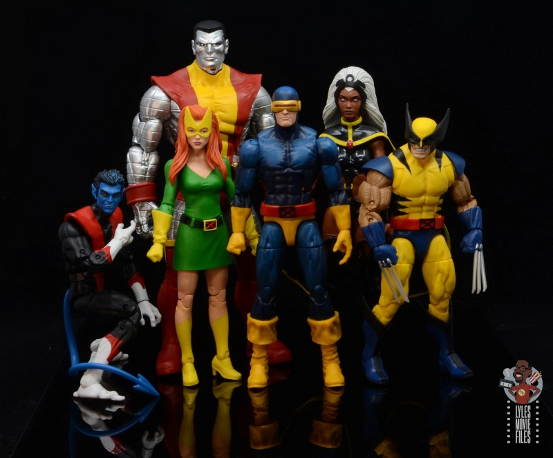 marvel legends house of x marvel girl figure review - with nightcrawler, colossus, cyclops, storm and wolverine