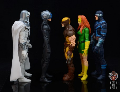marvel legends house of x wolverine figure review - facing magneto, charles xavier, marvel girl and cyclops