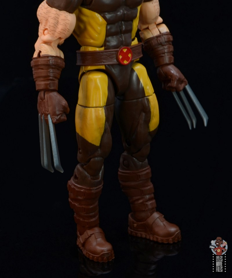 marvel legends house of x wolverine figure review - glove and boot detail