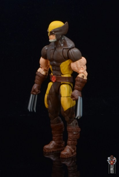 marvel legends house of x wolverine figure review - left side