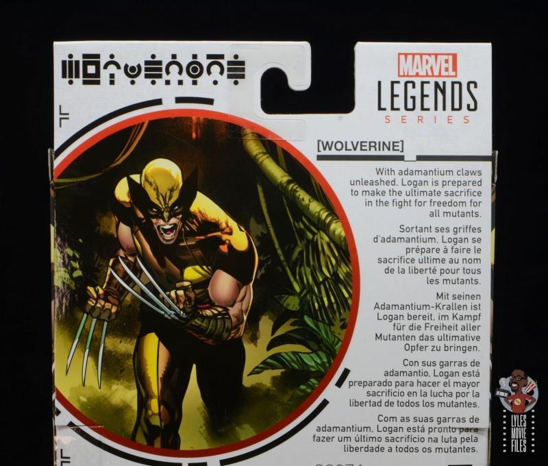 marvel legends house of x wolverine figure review - package bio