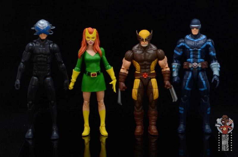 marvel legends house of x wolverine figure review - scale with charles xavier, marvel girl and cyclops