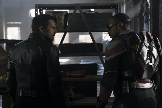 the falcon and the winter soldier the star-spangled man review - winter soldier and falcon