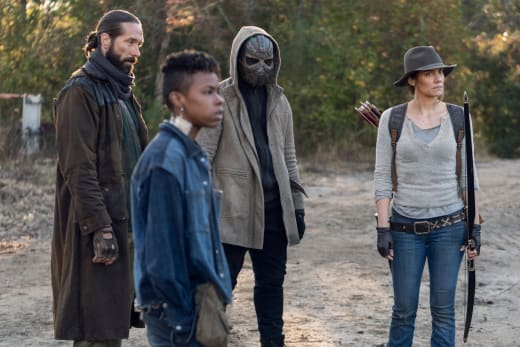 the-walking-dead-home-sweet-home-review -cole, kelly, elijah and maggie