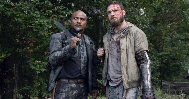 the-walking-dead-one more review - gabriel and aaron