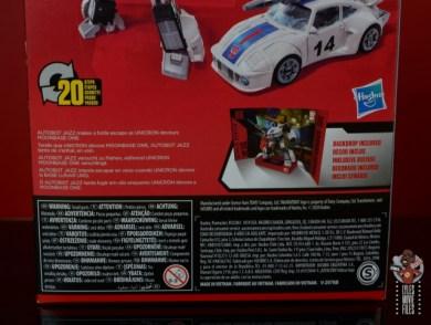 transformers studio series 86 jazz figure review - package bio rear