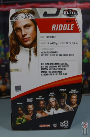 wwe elite 78 matt riddle figure review - package rear