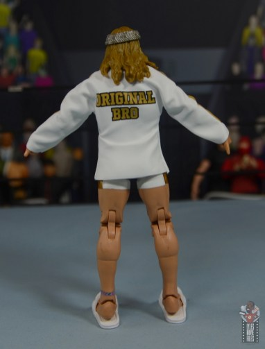 wwe elite 78 matt riddle figure review - ring gear rear
