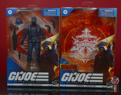 gi joe classified cobra infantry review -package front with cobra island inserts
