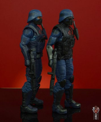 gi joe classified cobra infantry review - right side comparison