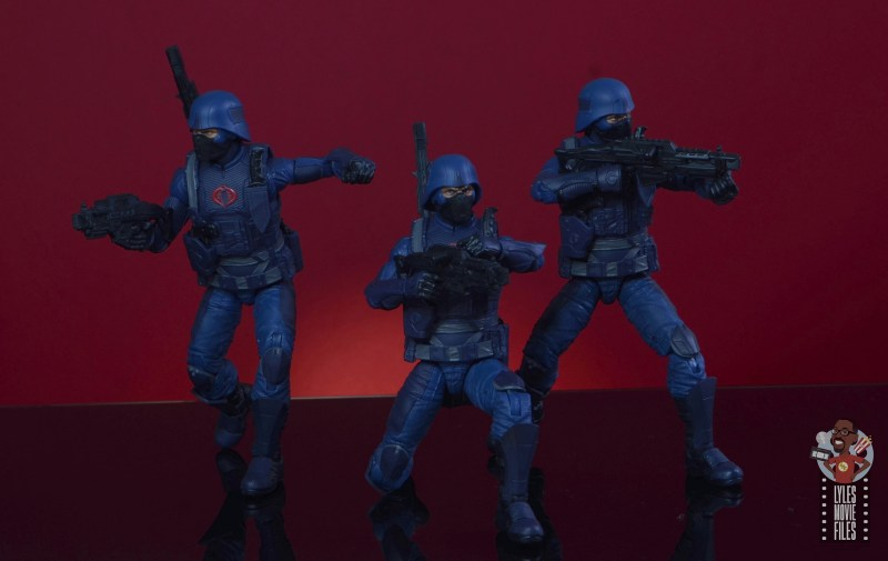 gi joe classified cobra infantry review - trio taking aim
