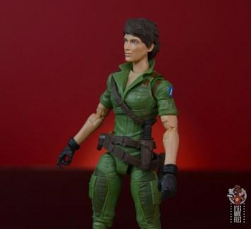 gi joe classified series lady jaye figure review - left side detail