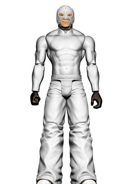 mattel wwe wrestlemania 2021 figure reveals - summerslam basic silver surfer rey mysterio