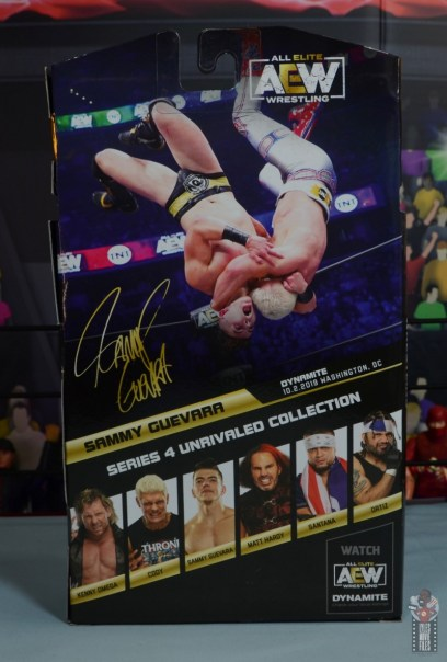 aew unrivaled series 4 sammy guevara review - package rear