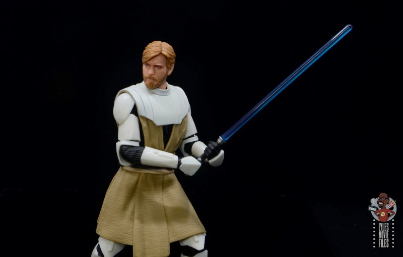 star wars the black series clone wars obi-wan kenobi review - close up pivot