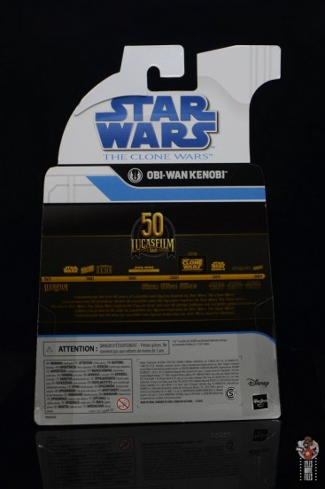 star wars the black series clone wars obi-wan kenobi review - package rear