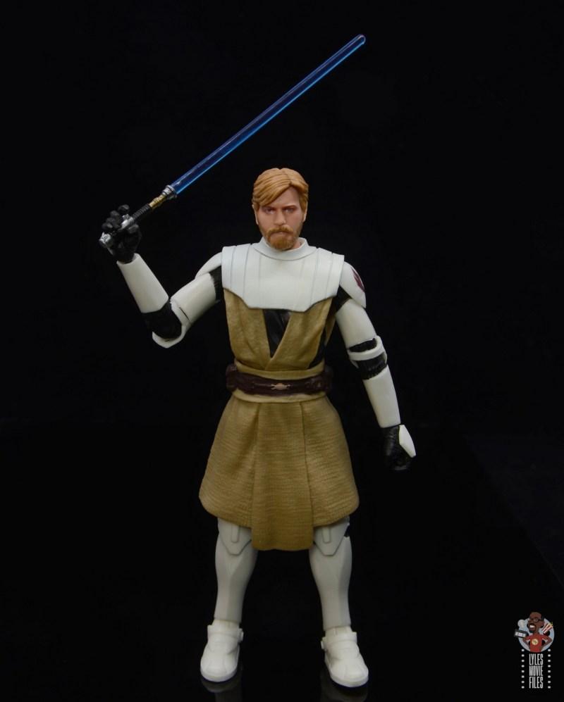 star wars the black series clone wars obi-wan kenobi review - raising lightsaber