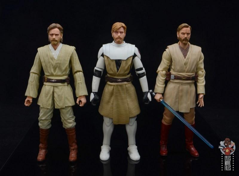 star wars the black series clone wars obi-wan kenobi review -scale with attack of the clones obi-wan and sh figuarts rots obi-wan