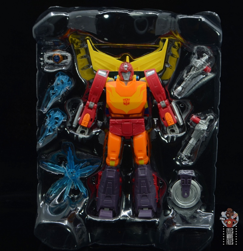 transformers studio series 86 hot rod review - accessories in tray