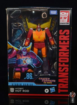 transformers studio series 86 hot rod review - package front