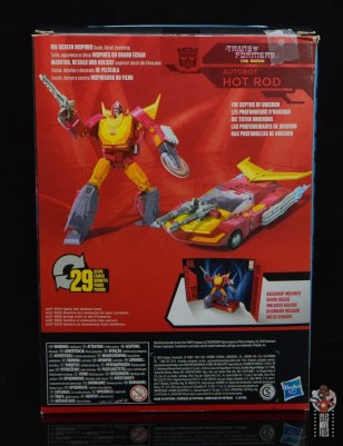 transformers studio series 86 hot rod review - package rear