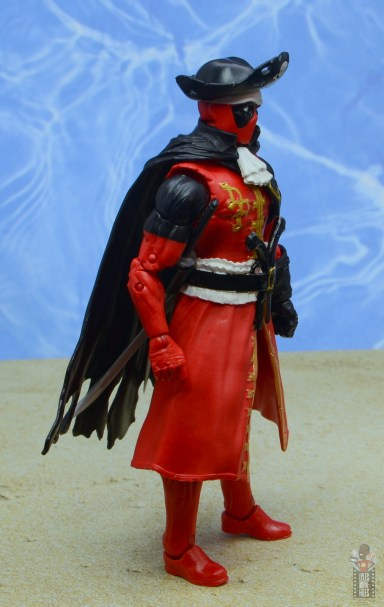 marvel legends pirate deadpool review - right side