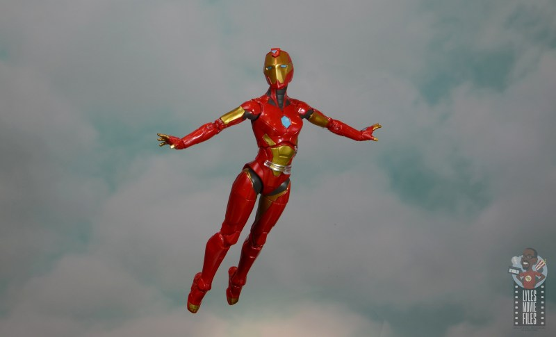 marvel legends ironheart review - flying through the clouds